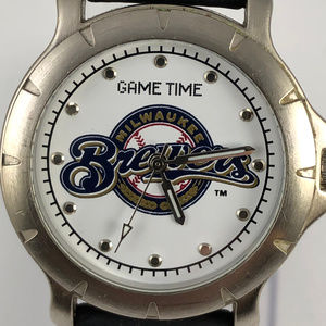 Game Time Brewers Player Series quartz wrist watch